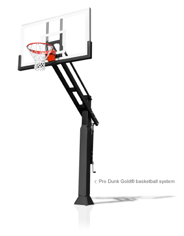 Pro Dunk Gold Height-Adjustable Basketball Goal