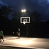 Court lit up at night with the Goal Light