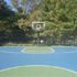 Backyard court with lighting