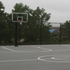 Backyard court, side view