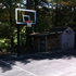 Backyard court, front view