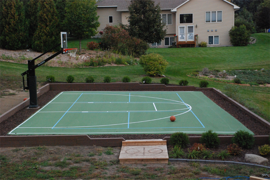 Pro dunk basketball court bing images for Basketball court cost estimate