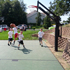 Competitive 2-on-2, Side view, Backyard court