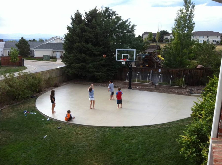 Pro Dunk Platinum Basketball System - Backyard basketball court ideas