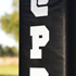 Striped court with custom padding
