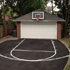 Family fun on a backyard court