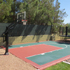 Backyard court, back view