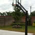 Backyard court, backside view